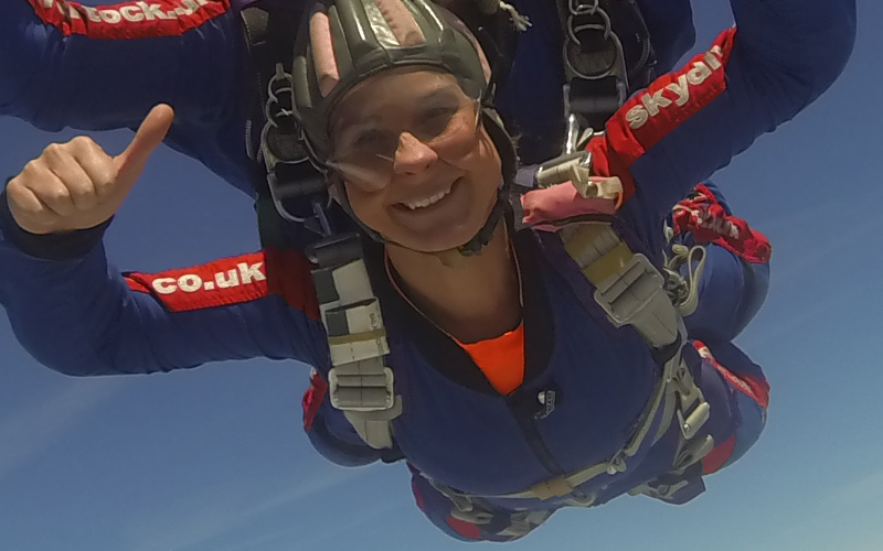 Charity Skydive for the Rossendale Trust